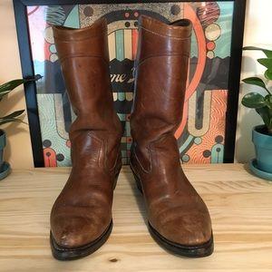 chippewa western roper boots • 9